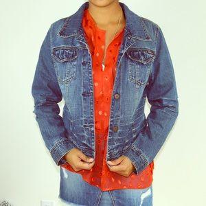 American Rag Distressed Denim Jacket Size M